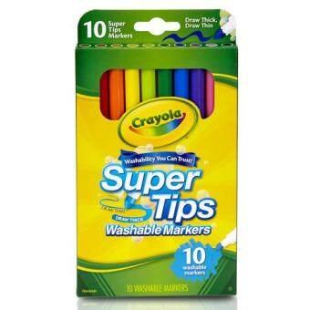 Crayola สีเมจิกล้างออกได้ ซุปเปอร์ทิปส์ 10สี