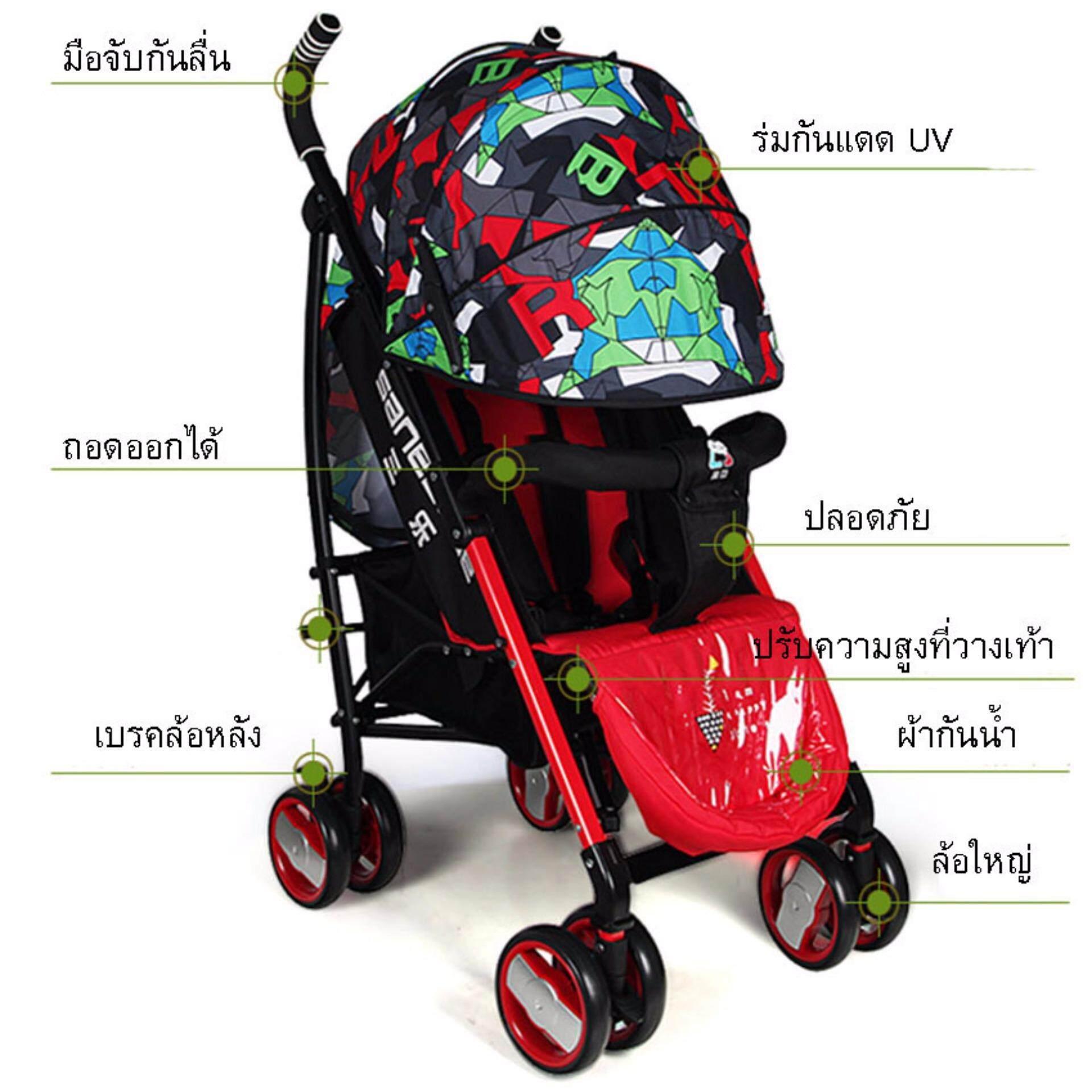 ของแท้ มีของแถม Chicco รถเข็นเด็กแบบนอน Chicco รถเข็นเด็ก Snappy Stroller - Lady Bug (Red) มีคูปองส่วนลด