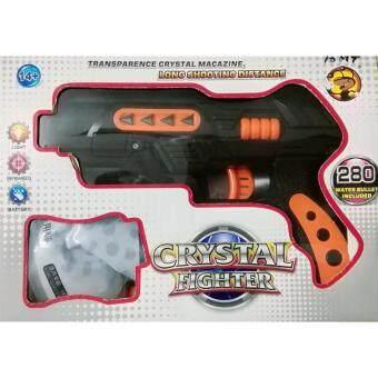 ปืนสั้นอัดลม Crystal Fighter 2in1 กระสุนโฟม-กระสุนน้ำ มีแสงเลเซอร์เล็งเป้า