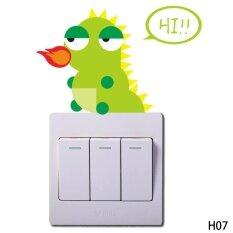 น่ารักสัตว์สติ๊กเกอร์ติดผนังสวิทช์ไฟสติ๊กเกอร์ตกแต่งศิลปะประดับผนัง H07 - Intl.