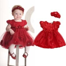 Cute Baby Girls Toddler Kids Wedding Birthday Party Pageant Tulle Dress 3 Year Intl ใน จีน