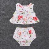 ขาย Cute Floral Baby Girls Clothes Set Summer Newborn Infant Baby Girls Floral Tops Shorts Outfits Set White Intl Unbranded Generic ถูก