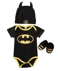 ทารกแรกเกิดทารกแรกเกิดน่ารัก Romper ทารก + รองเท้า + หมวก 3 ชิ้นชุดชุดเสื้อผ้าแขนสั้น 0-24m-นานาชาติ.