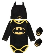 ราคา Cute Newborn Baby Boys Infant Rompers Shoes Hat 3Pcs Outfit Clothes Set Long Sleeve 24M 6 12 Months Intl ใหม่