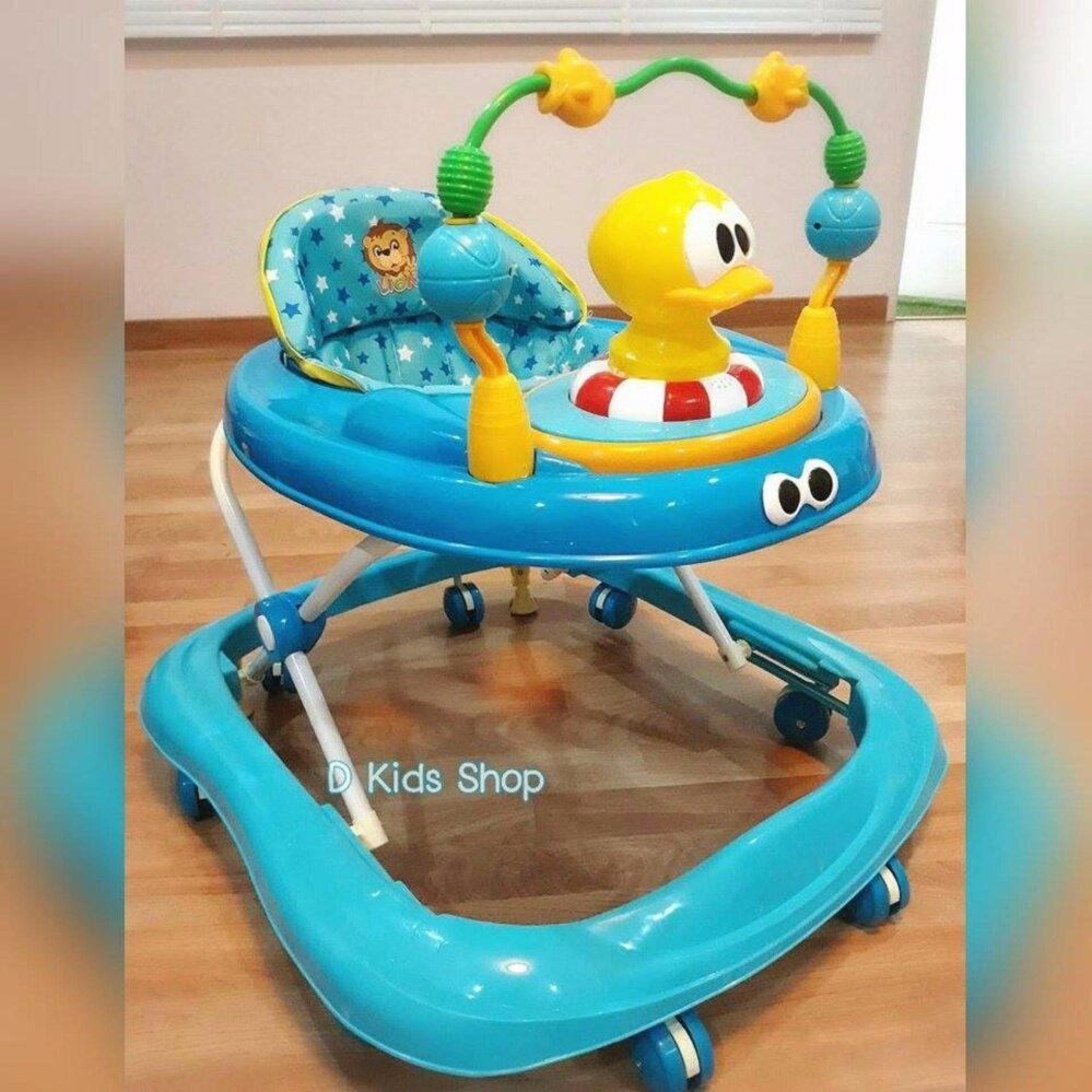 โปรโมชั่น D Kids Toys รถหัดเดิน รถเด็กหัดเดิน เจ้าเป็ดสีฟ้า มีเสียงดนตรี มีไฟ ปรับระดับได้