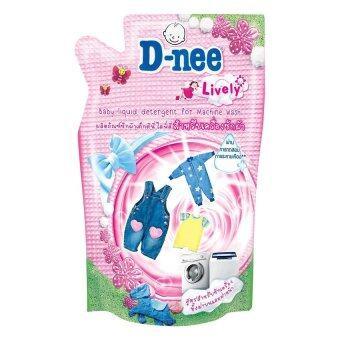 D-nee น้ำยาซักผ้าเด็กดีนี่ไลฟ์ลี่ สำหรับเครื่องซักผ้า ชนิดเติม ขนาด 600 มล. (แพ็ค 3)