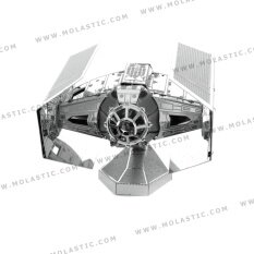Darth Vader S Tie Fighter 3D Metal Model Kit โมเดลโลหะ Star Wars Darth Vader S Tie Fighter เป็นต้นฉบับ