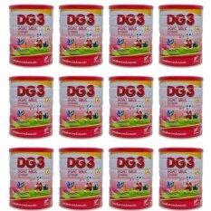 ซื้อ ขายยกลัง Dg 3 นมแพะ สำหรับเด็กเล็ก 1 ปีขึ้นไป 800G X 12 กระป๋อง