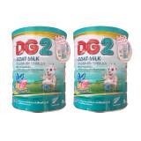 Dg2 ดีจี 2 นมแพะผงสูตรต่อเนื่องสำหรับเด็กวัย อายุตั้งแต่ 6 เดือน 3 ปี ขนาด 800G X 2 กระป๋อง เป็นต้นฉบับ