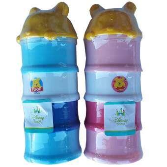 Disney Baby ดิสนี่ย์เบบี้ ที่แบ่งนม 4 ชั้น หมีพูห์ สีฟ้า/สีชมพู (แพ็ค 2)-