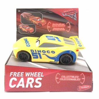 ของเล่นของสะสม Disney Cars 3 Free Wheel Cars Assortment - Yellow
