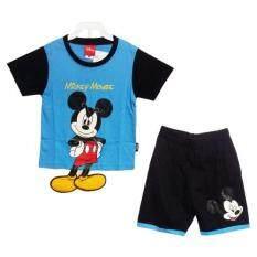 Disney Mickey Mouse เสื้อผ้าเด็กชุด มิกกี้เมาส์ ตรงมือเป็นกระเป๋าเสื้อและขาห้อยฟองน้ำ สีฟ้า น้ำเงิน A1580 กรุงเทพมหานคร