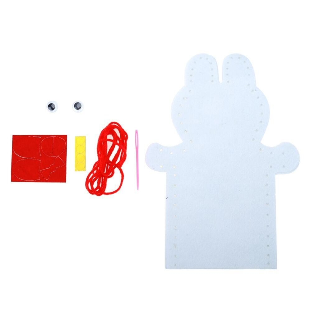 sportschannel DIY Crafts Non-Woven Cloth Animal Hand Puppet Kids Child Sewing Toys - intl(Multicolor)