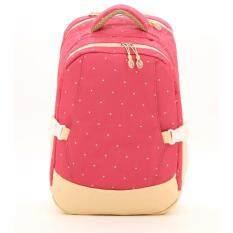 ขาย กระเป๋าเป้สะพายหลังสำหรับคุณแม่ กระเป๋าใส่ผ้าอ้อม ขวดนมเด็ก กันน้ำ รุ่น Dn083 สีชมพูลายจุด ใหม่