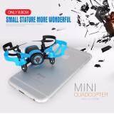 ซื้อ Drone Mini ติดกล้อง Wifi พร้อมระบบถ่ายทอดสดแบบ Realtime New มีระบบ กันหลงทิศ สีฟ้า Drone เป็นต้นฉบับ