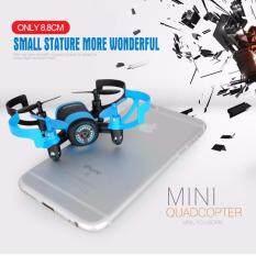 ราคา Drone Mini ติดกล้อง Wifi พร้อมระบบถ่ายทอดสดแบบ Realtime New มีระบบ กันหลงทิศ สีฟ้า ราคาถูกที่สุด