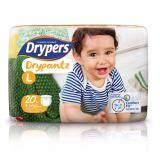 ราคา Drypers ผ้าอ้อมสำหรับเด็ก รุ่น Drypantz L 20 ชิ้น เป็นต้นฉบับ Drypers