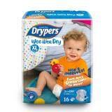 ขาย Drypers ผ้าอ้อมสำหรับเด็ก รุ่น Wwd Xl16 ชิ้น ออนไลน์ ใน สมุทรปราการ