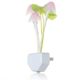 DSstyles Creative Design Energy Saving Light Induction Control Sensor Multi-color Mushroom LED Night Light Plug-in Wall Lamp Bedroom Decor - intl