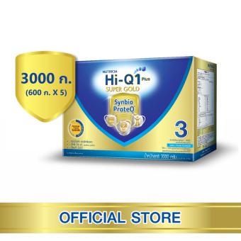 นมผง Hi-Q Supergold ไฮคิว 1 พลัส ซูเปอร์โกลด์ ซินไบโอโพรเทก รสจืด 3000 กรัม (ช่วงวัยที่ 3)