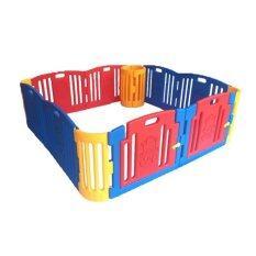 ซื้อ Edu Play คอกกั้นเด็ก Size L รุ่น Br 8011Pg สีน้ำเงินแดง ใน ไทย