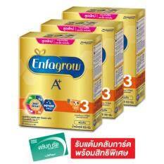 ขาย Enfagrow เอนฟาโกร นมผงสำหรับเด็ก เอพลัส 3 360ํ ดีเอชเอพลัส เอ็มเอฟจีเอ็ม โปรรสจืด 550 กรัม แพ็ค 3 กล่อง ถูก