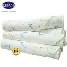 ซื้อ Enfant Amusant ผ้าอ้อมลายหอไอเฟลสีน้ำเงิน Size 30X30นิ้ว 1 Pack 6 ผืน