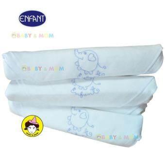 ENFANT ผ้าอ้อมปักลายElephant SIZE 27X27นิ้ว 1เเพ็ค(6ผืน)