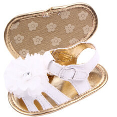 ขาย Eozy Soft Baby G*rl Flower Pattern Children Sandals Shoes White Intl ถูก