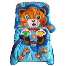 ซื้อ เปลโยกผ้า 2 ชั้นเบาะหมี มีเสาของเล่น สีฟ้า Unbranded Generic ออนไลน์