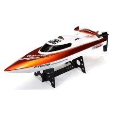 ราคา เรือบังคับ เรือบังคับวิทยุ เรือเร็วไฟฟ้าบังคับ Speed Boat รุ่น Ft009 สีส้ม ที่สุด