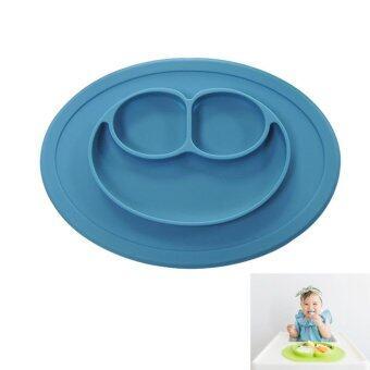 EsoGoal แผ่นซิลิโคนกันเปื้อนรองทานอาหารสำหรับเด็ก (สีน้ำเงิน)