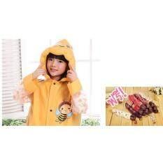 ขาย ซื้อ เสื้อกันฝนเด็ก Yellow Bee ลายผึ้งน้อย สีส้ม ไซส์ Xl