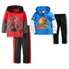 ราคา เสื้อมีฮู้ด แขนยาว กางเกงขายาว เข้าชุด 2 ชุด เด็ก อายุ 1 7 ปี ลาย สไปเดอร์แมน รักบี้ 2930 ไทย