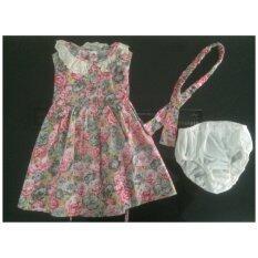 ขาย เสื้อผ้าแนววินเทจ Deberry Kids สีสันลายดอกไม้ ชมพู เทา เนื้อผ้า Cotton 100 เปอร์เซ็นต์ ถูก