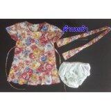 โปรโมชั่น เสื้อผ้าเด็ก แบรนด์ Deberry Kids สีมชมพูลายดอกไม้ แนววินเทจ เนื้อผ้า Cotton 100 เปอร์เซ็นต์ ใน กรุงเทพมหานคร