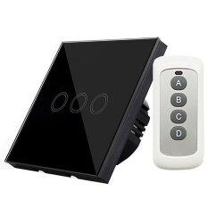 ขาย Eu Plug Panel Smart Touch Wall Light Switch 3 Gang Y603B Remote Control Intl ถูก ใน จีน