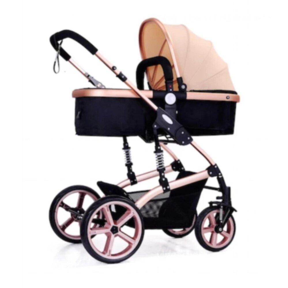 ลดสมมนาคุณลูกค้า Crystal Fashion รถเข็นเด็กแบบนอน Crystal รถเข็นเด็ก Baby car stroller รถเข็นเด็กปรับระดับได้ รับประกันของแท้