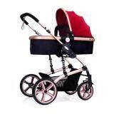ขาย Exceed รถเข็นเด็กปรับนอน 180 แรกเกิด สีแดง Baby Stroller Wisesonle 36เดือน Red Colour มีสปริงรับแรงกระแทรก 2 จุดหลัก Bst001