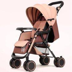 ราคา ราคาถูกที่สุด Exceed รถเข็นเด็กสามารถปรับนอนได้100 170องศา Baby Stroller Wisesonle Khaki Colour น้ำหนักเบา 4 8Kg สีน้ำตาล Bst002