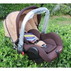 Exceed คาร์ซีท (car Seat) Khaki Colour ที่นั่งในรถยนต์แบบกระเช้า Carmind สำหรับเด็ก0-15เดือน ขนาด 70x41x33 สีกากี.