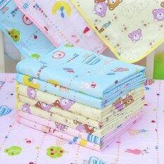 Fang Fang Baby ผ้ากันเปื้อนการ์ตูนรถเข็นเด็กแผ่นที่ล้างออกได้กันน้ำปัสสาวะผ้าปูที่นอนแผ่นรองเก้าอี้ 34*43 เซนติเมตร - สีเหลือง - Intl.