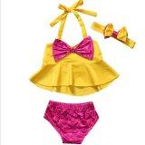 โปรโมชั่น Fangfang Kid Baby Girls 3Pcs Tankini B*k*n* Set Swimwear Swimsuit Bathing Suit Beachwear Intl ใน Thailand