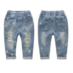 ราคา Fashion Denim Jeans Pants Boys Ripped Jeans Cotton Casual Children S Trousers Intl ออนไลน์ จีน