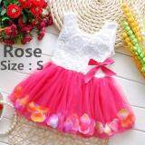 ราคา ราคาถูกที่สุด Fashion Lovely Toddler Baby Kid Girls Princess Party Tutu Lace Bow Flower Dresses Skirt Clothes Intl