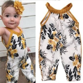 Fashion Toddler Kid Baby Girl Romper Infant Jumpsuit Bodysuit Clothes Outfit 0-4Y (12-18 Months) - intl