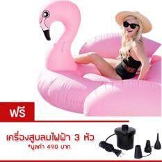 ซื้อ ห่วงยาง Flamingo Big Size Free เครื่องสูบลมไฟฟ้า ห่วงยางแฟนซี แพยางเป่าลม ที่นอนเป่าลม รูปนกฟลามิงโก Flamingo สีชมพู ใน กรุงเทพมหานคร