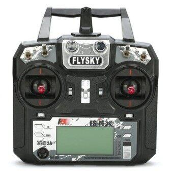 Flysky FS-i6X 2.4GHz 10CH AFHDS 2A RC Remote Transmitter w/ X6B i-BUS Receiver i6x+A8S Mode 2 Left Black - intl