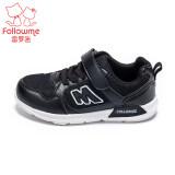 ขาย ซื้อ ออนไลน์ Follow Me สีดำและสีขาวฤดูใบไม้ผลิใหม่เด็กรองเท้าหญิงรองเท้า