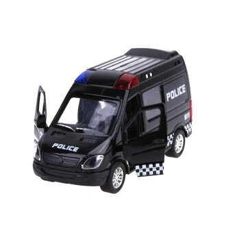 Force Control Pull Back Alloy Car Model Kids Car Toy (Black Police Car) - intl